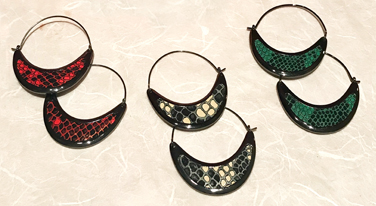 Mill valley hoop earrings with inlaid leather