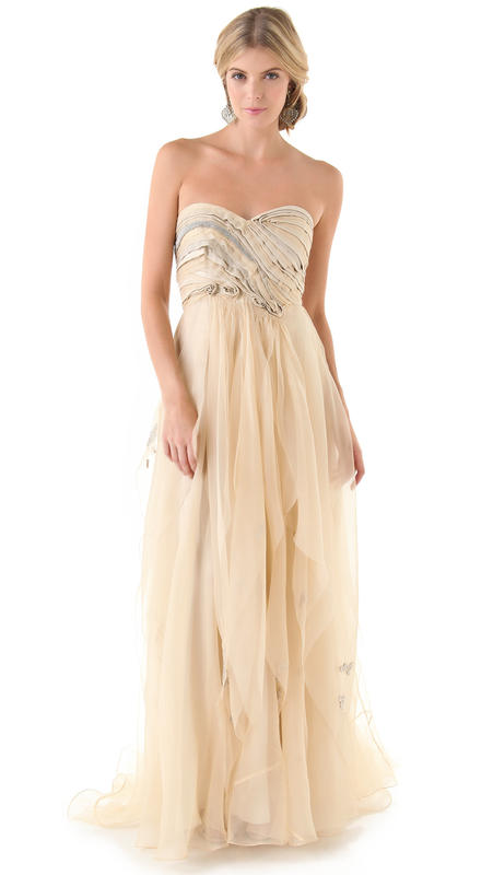 ecru bridal gown